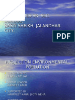 Project on Environment Pollution(Basti Sheikh)