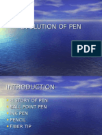 Evolution of Pen, b