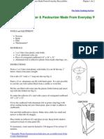 Garrafa Solar Pasteurizadora de líquidos