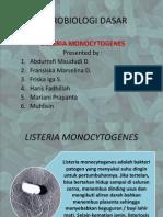 Ppt Listeria Monocytogenesis