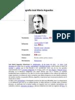 Biografía José María Arguedas