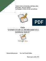 Guia Como Usar La Herramienta Google Docs