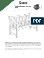 Intermediate Project Garden Bench