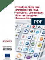 Ecosistema digital para promocionar las PYME valencianas. Oportunidades de un mercado global. Redes sociales