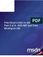 Fritz Onion's Intro to ASP.net Part 3 of 4 - ADO