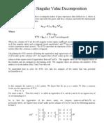 Tutorial on Singular Value Decomposition