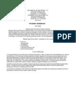 2011-2012 High School Handbook