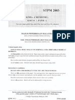 STPM Chemistry 2003 - Paper 1