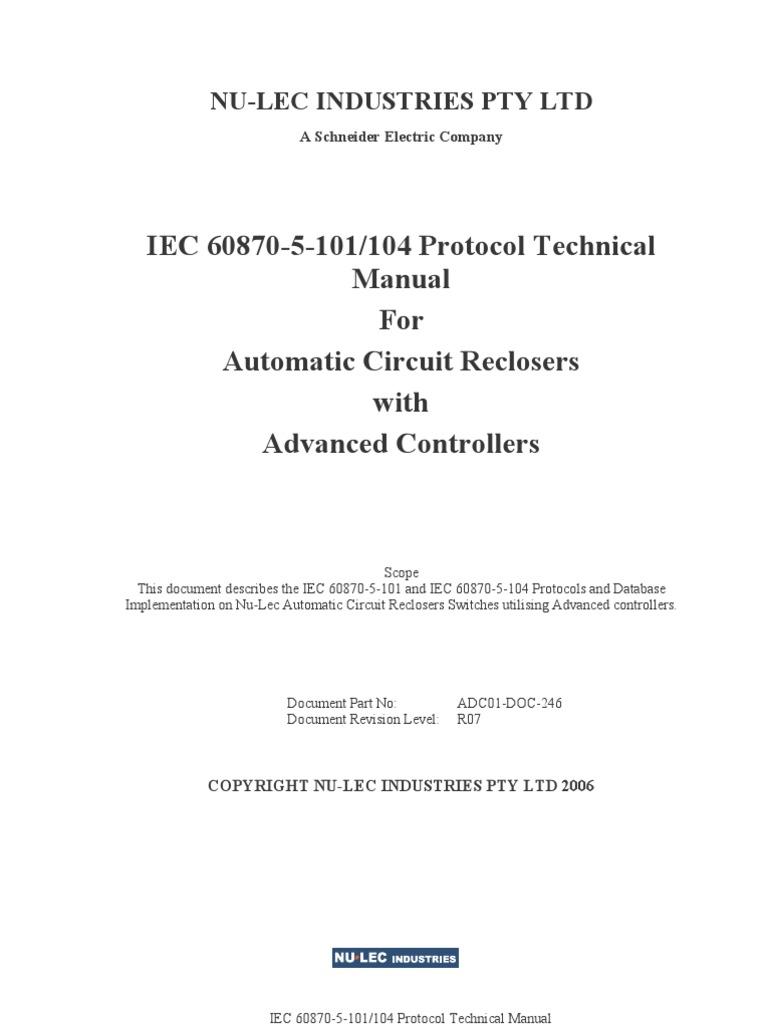 iec 60870 5 101 pdf_ADVC IEC 60870-5-101_104 Technical Manual | Bit Rate | Transmission Control Protocol