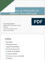 PROCESSO DE PRODUÇÃO DO CIMENTO TIPO PORTLAND