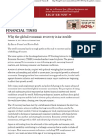 Why the global economic recovery is in trouble _ Economists' Forum _ Economics blog from the Financial Times – FT