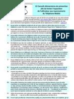 12 Conseils de Prevention Afin de Limiter Son Exposition Aux Rayonnements Du Telephone Mobile