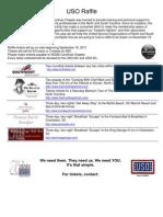 USO Benefit Raffle