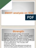 SWOT Analysis on SAP