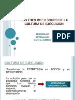 LOS TRES IMPULSORES DE LA CULTURA DE EJECUCIÓN
