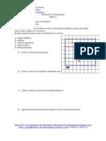 Prueba Nº1 de Matemática - Calculo de Areas y Perimetros