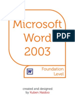 MS Word 2003 Manual