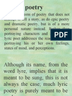 Forms of Lyric Poetry