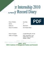 Internship Diary