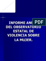 Informe Anual Del Observatorio Estatal de Violencia Sobre La Mujer