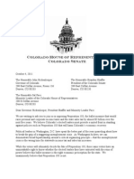 House and Senate GOP Letter to Sal Pace, Brandon Shaffer, John Hickenlooper On Prop 103