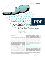 Relevance of Weather Insurance in Indian Agriculture
