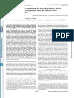 Isolation and Characterization of the Gene Encoding a Novel