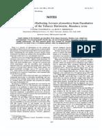 Isolation of Plasmid-Harboring Serratia Plymuthica From Facultative