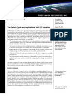 First Union's Default Cycle & CDO Valuation 073001