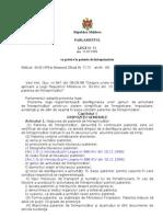 Legea patenta