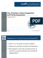 Dearborn Citizen Engagement & Priority Assessment - Sept 2011