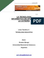 Abregu Ernesto - La Tecnologia a en Apoyo de La Catedra
