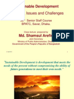Concepts and Issuse on Sustainable Development