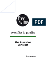 Freewine Wine List