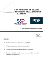 Restriction on Transfer of Shares