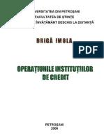Operatiunile Insitutilor de Credit