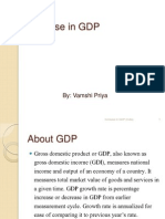 Increase in GDP..