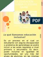 LA EDUCACIÓN INCLUSIVA EL EQUIPO SAANE