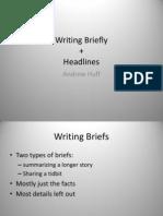 Writing Briefly & Headlines
