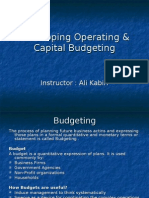 Developing Operating & Capital Budgeting