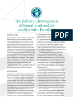 The Political Development of Somaliland and Its Conflict With Puntland