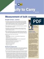 Measurement of Bulk Cargoes - Draught Surveys