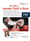 The Definitive Guide to Business Cards in Korea Edition