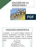 FISIOLOGÍA DE LA HEMOSTASIA I