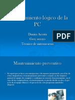Mantenimiento lógico de la PC