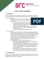 Theorie Des Filtres Analogiques