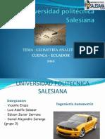 c. d. Geometria Analitica 1