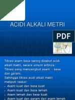 Acidi Alkali Metri