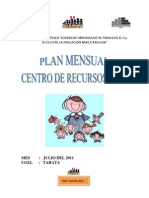 Plan Mensual de Julio