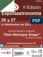 Brochure Invitación II Edición ExpoGastronomía El Hatillo